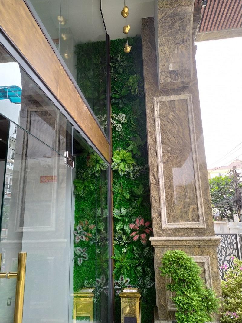 Mẫu tường cây nhân tạo đẹp